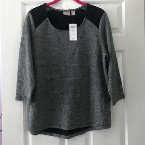 Chico's Women's 3/4 sleeve top NWT